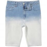 River Island Boys Blue Sid dip dye skinny denim shorts (Size 7 - 8 Years)