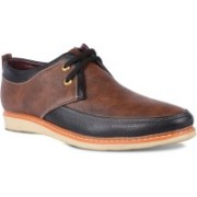 ADEL BROWN Leather Derby Shoes 8UK For Men -MF 5050060595 BR-BROWN Casuals For Men(Brown)