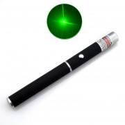 5mw 532nm 2in1 Laser Pointer Pen Beam Light High Power Laser + Star Cap (Black)