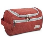 Aeoss Toiletry Organizer Wash Bag Hanging Dopp Kit Travel for Bathroom Shower RED(Red)