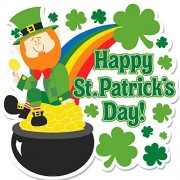"Lucky Irish Green St. Patrick's Day Leprechaun Cutout Party Decoration, Paper, 15"" x 15"""