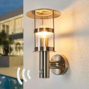 Lampenwelt.com Sensor buitenwandlamp Noemi van roestvrij staal