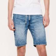 House - Jeansowe szorty z regulacją w pasie - Niebieski