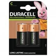 Duracell C/LR14 1,5 Volt Uppladdningsbara Duracell Batterier Ultra C 3000mAh. 2 st.
