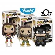 Set 3 Liga De La Justicia Funko Pop Batman Aquaman Wonder Woman