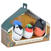 Wild Republic Audubon Birds Collection with Authentic Bird Sounds, Hummingbird, Blue Jay and Baltimore Oriole, Bird Toys for Kids and Bird Watchers