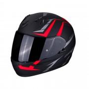 Scorpion Casco Moto Integrale Exo-390 Hawk Matt Black Neon Red