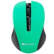 Мишка CANYON, Wireless, Optical 800/ 1000/ 1200 dpi, USB, Зелена, CNE-CMSW1GR