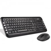 Клавиатура + Мишка Безжичен комплектV-Track PADLESS 7200N, черна,1000 dpi,2.4Gh, USB, нано рисивър - A4-KEY-7200N