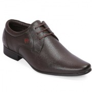 Red Chief Brown Low Ankle Leather Derby Shoe (RC3537 003)
