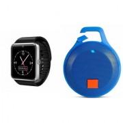 Zemini GT08 Smart Watch and Clip plus Bluetooth Speaker for SONY xperia m2 aqua(GT08 Smart Watch with 4G sim card camera memory card |Clip plus Bluetooth Speaker )