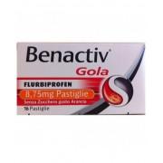Reckitt Benckiser H.(It.) Spa Rb Benactiv Gola Trattamento Sintomatico Dolori Cavo Orofaringeo Gusto Arancia Senza Zucchero 16 Pastaglie