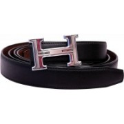 BlacKing Men Party, Formal, Casual Black Genuine Leather Belt