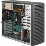 Supermicro CSE-732I-R500B, Mid-Tower, Fixed HD SATA/SAS/IDE, Redundant 500W - Black
