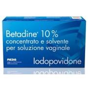 Meda Pharma Betadine Concentrato E Solvente Per Soluzione Vaginale 10%