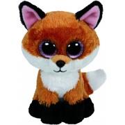 TY Peluche Fox Brown with Glitter eyes Slick 42cm