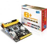 Placa de baza Biostar H81MHV3, LGA1150, Intel H81, DDR3-1600/1333, 2 x SATA3, 2 x USB 3.0