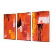 Tablou Canvas Premium Abstract Multicolor Rosu Galben Negru 2 Decoratiuni Moderne pentru Casa 3 x 70 x 100 cm