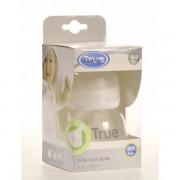 Biberon 150ml gat larg cu tetina silicon 0+si capac lapte