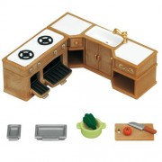 Sylvanian Families Kitchen Stove, Sink & Counter