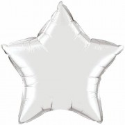 "Qualatex Silver Plain Foil 36"" Star St"