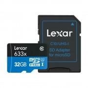 Card SDHC UHS-1 32 GB, Clasa 10 cu adaptor inclus, Lexar (32GB)