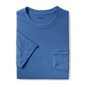 ランズエンド LANDS' END メンズ・スーパーT/ポケット付き/半袖/Tシャツ(ベイショアブルー)