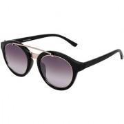 Silver Kartz Luxury Brown Wayfarer Rectangular Sunglasses (Violet Brown)