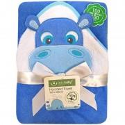 Prosop de baie Hipopotam 100x100 cm - Bobobaby - Albastru