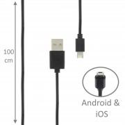 Câble Mixte Apple Android Pour Doro 6050 - 6530 - 6520 - Primo 413 - 8031 - Liberto 822 - Liberto 820 Mini - Phoneeasy 631 -... Et +