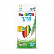 Set 12 creioane colorate hexagonale-Carioca
