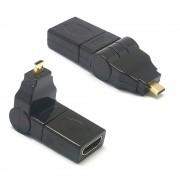 Sonstige Marke Micro HDMI auf HDMI 90 Grad Winkel Adapter - Schwarz