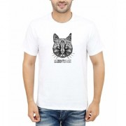 DOUBLE F ROUND NECK HALF SLEEVE WHITE COLOR MY REALITY IS JUST DIFFERENT THAN YOURS PRINTED T-SHIRTS