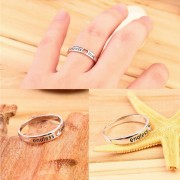 EY Men Women Endless Love Hearts Couple Style Silver Band Ring Wedding Anniversary Plata