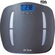 Dr. Trust (USA) ABS Fitness Body Composition Monitor Fat Analyzer Weighing Scale (Digital Thermometer & Measuring Tape Included) Weighing Scale(Grey)