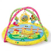 LLZJ Baby Activity Gym Mat Toys Centre Large Play Skip Hop Blanket Arch Toddlers Bright Floor Nursery Pedal Stand Exercise Blankets Educational Mat Crawling Floor Children Animal, C