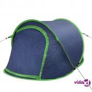 vidaXL Kamperski pop-up šator za 2 osobe mornarsko plavi / zeleni