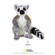 Jucarie Plus Venturelli National Geographic Lemur in picioare 30 cm