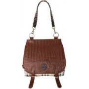 JL Collections Women Brown Shoulder Bag