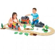 Set constructie Little Tikes Tren cu aburi