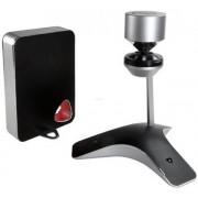 Statie de conferinta Polycom CX5100 unificata pentru Microsoft Lync, Camera video panoramica 360° cu microfon si difuzoare active