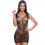 Camisola Sensual Renda Arrastão Body Stocking - Shopsensual