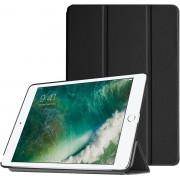 Apple iPad Pro 9.7 - Luxe Zwart Leer Hoesje Smart Cover - Book Case Retro (Flip Cover) - Bescherming voor Voor- en Achterkant (Zwarte Leren)