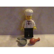 Lego Chef with Turkey Leg and Pan