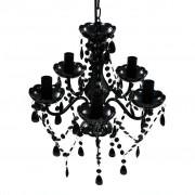 vidaXL BLACK Crystal Light 5 Bulb