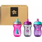 Set cani ONL Fete Tommee Tippee 300 ml x3 buc 12luni+ Roz
