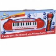 Детски електронен синтезатор с 24 клавиша и микрофон, 191356