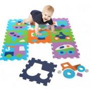 Covor Copii puzzle din spuma Vehicles 9 piese