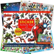 Marvel Super Heroes Stickers Coloring & Activity Book with Pop Art Reward Sticker ~ Over 1000 Super Hero Stickers...