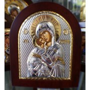 "Икона - Сребърна ""Богородица с Младенеца"" (EK3-007XAG)"